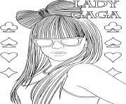 chanteuse star lady gaga dessin à colorier