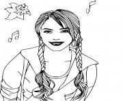 chanteuse high school musical dessin à colorier