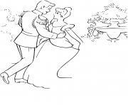 contes de fees de la princesse cendrillon dessin à colorier