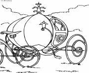 carrosse de la princesse cendrillon dessin à colorier