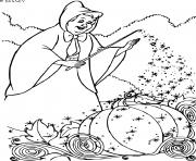 la fee marraine utilise sa magie dessin à colorier