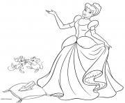 la belle princesse cendrillon dessin à colorier