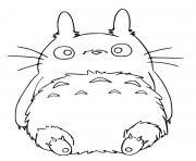 Totoro se repose dessin à colorier