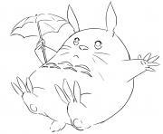 Totoro Line Art manga anime dessin à colorier