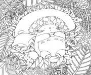 Totoro de Ghibli par Chocobo dessin à colorier