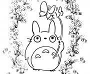 Totoros manga anime dessin à colorier