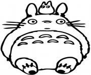 Totoro fait une sieste dessin à colorier