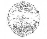 Totoro printemps par Chocobo dessin à colorier