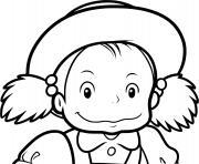 Mei Kusakabe de Totoro dessin à colorier