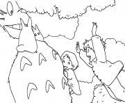 totoro film 1988 Mei Satsuki dessin à colorier
