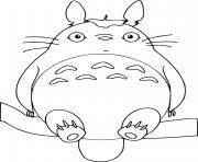 totoro film animation japonais dessin à colorier