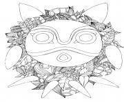 ghibli de Totoro par chocobo dessin à colorier