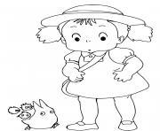 Mei Kusakabe Mon Voisin Tororo dessin à colorier