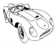 Voiture Ferrari f70 dessin à colorier