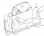 Coloriage Ferrari F12 Berlinetta