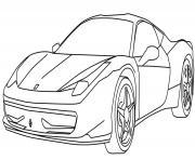 voiture de sport Voiture Ferrari dessin dessin à colorier