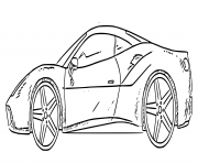 Ferrari Portofino decapotable V8 Biturbo dessin à colorier