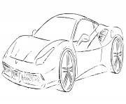 Ferrari F8 Tributo 710 chevaux dessin à colorier