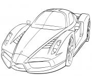 Ferrari Enzo supercar 660 chevaux puissance dessin à colorier