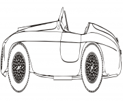 ferrari 166 mm barchetta dessin à colorier
