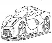 Ferrari Roma Italienne 612 chevaux dessin à colorier