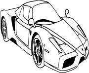 dessin Voiture Ferrari dessin à colorier