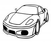Voiture Ferrari f430 dessin à colorier