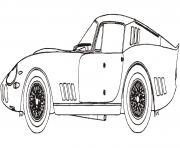 ferrari 275 gtb modele de course dessin à colorier