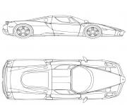 ferrari enzo super voiture de course dessin à colorier