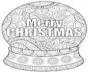 boule de noel merry christmas mandala dessin à colorier