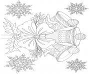 cloches de noel mandala adulte zentangle dessin à colorier