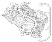 carrosse avec sapin et cadeaux de noel anti stress dessin à colorier