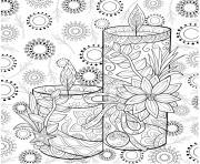 noel mandala chandelles dessin à colorier