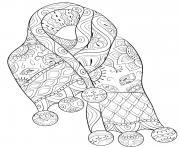 echarpe de noel mandala anti stress dessin à colorier
