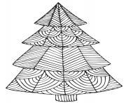 noel mandala geometric sapin dessin à colorier
