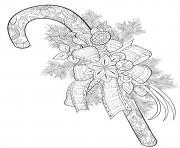 canne de noel mandala anti stress dessin à colorier