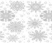 noel pour adulte flocons de neiges background dessin à colorier