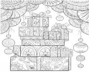 cadeaux de noel mandala anti stress dessin à colorier