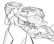 Reine des Neiges 2 Elsa et Trolls dessin à colorier