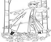 Reine des Neiges 2 Elsa et Gale dessin à colorier