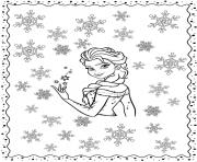 Reine des Neiges 2 avec snowflakes for winter dessin à colorier