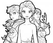 Reine des Neiges 2 defendent le Royaume par amour et justice dessin à colorier