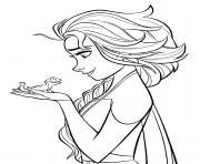 Elsa et Lizard Bruni Reine des Neiges 2 dessin à colorier