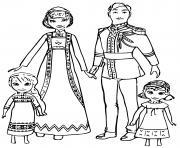 Iduna et Agnarr La Reine des Neiges 2 dessin à colorier