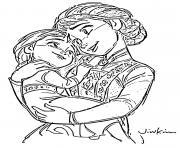 Anna une princesse avec un coeur chaleureux et attachant dessin à colorier