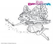 Barbie Fee Paillettes dessin à colorier