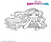 Barbie au Royaume des Paillettes dessin à colorier