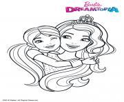 Barbie et Chelsea au Royaume Arc en Ciel dessin à colorier