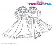 Princesses Paillettes dessin à colorier
