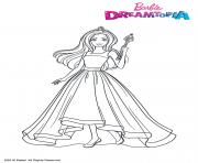 Coloriage Barbie Princesse Arc en Ciel